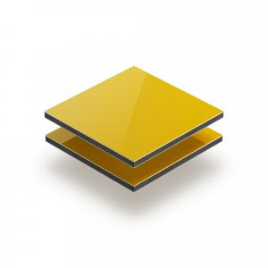 Aluminium Verbundplatte gelb