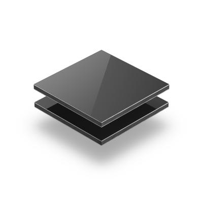 Aluminium Verbundplatte grau