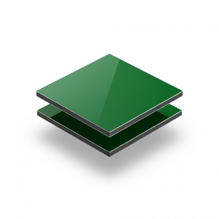 Aluminium Verbundplatte grün