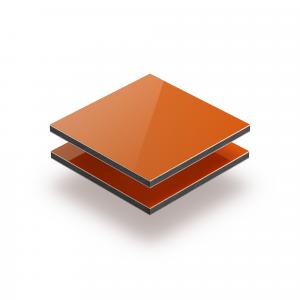 Aluminium Verbundplatte orange