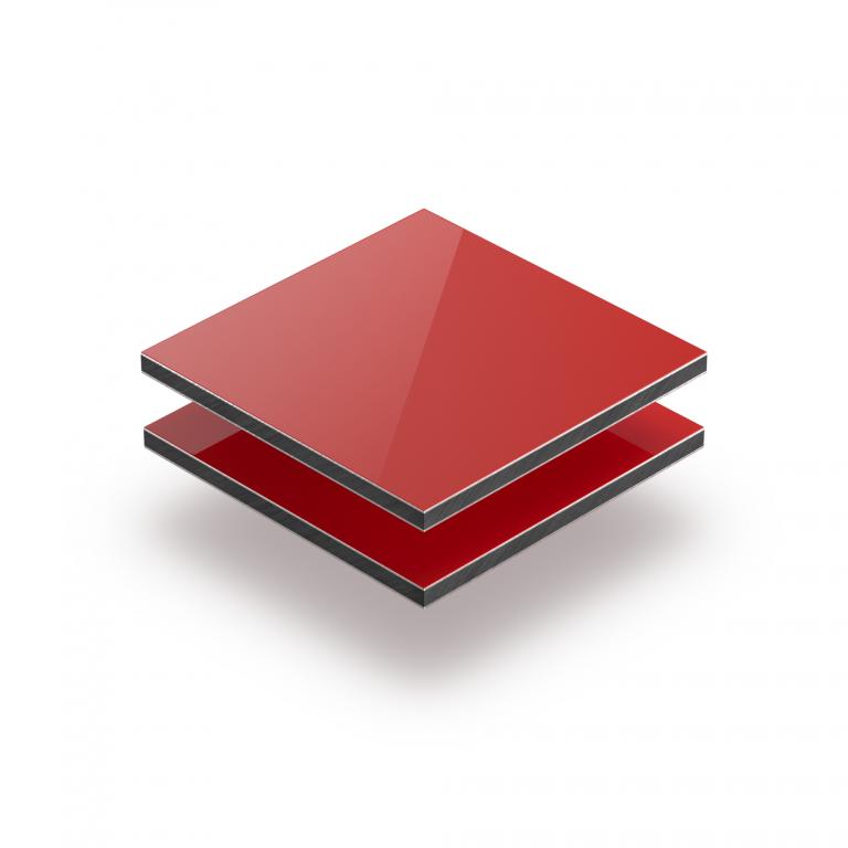 Aluminium Verbundplatte rot