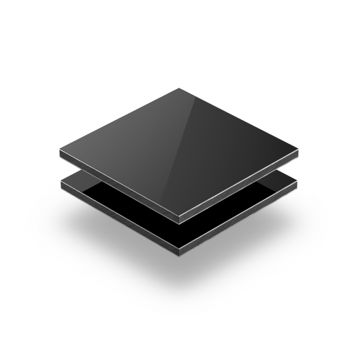 Aluminium Verbundplatte schwarz