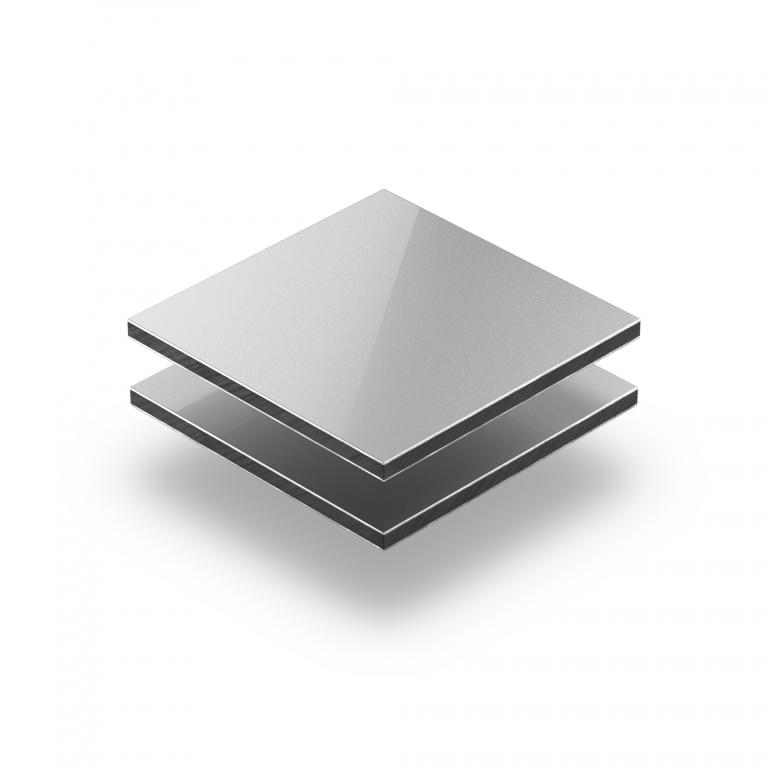 Aluminium Verbundplatte silber
