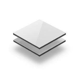 Aluminium Verbundplatte weiß glänzend