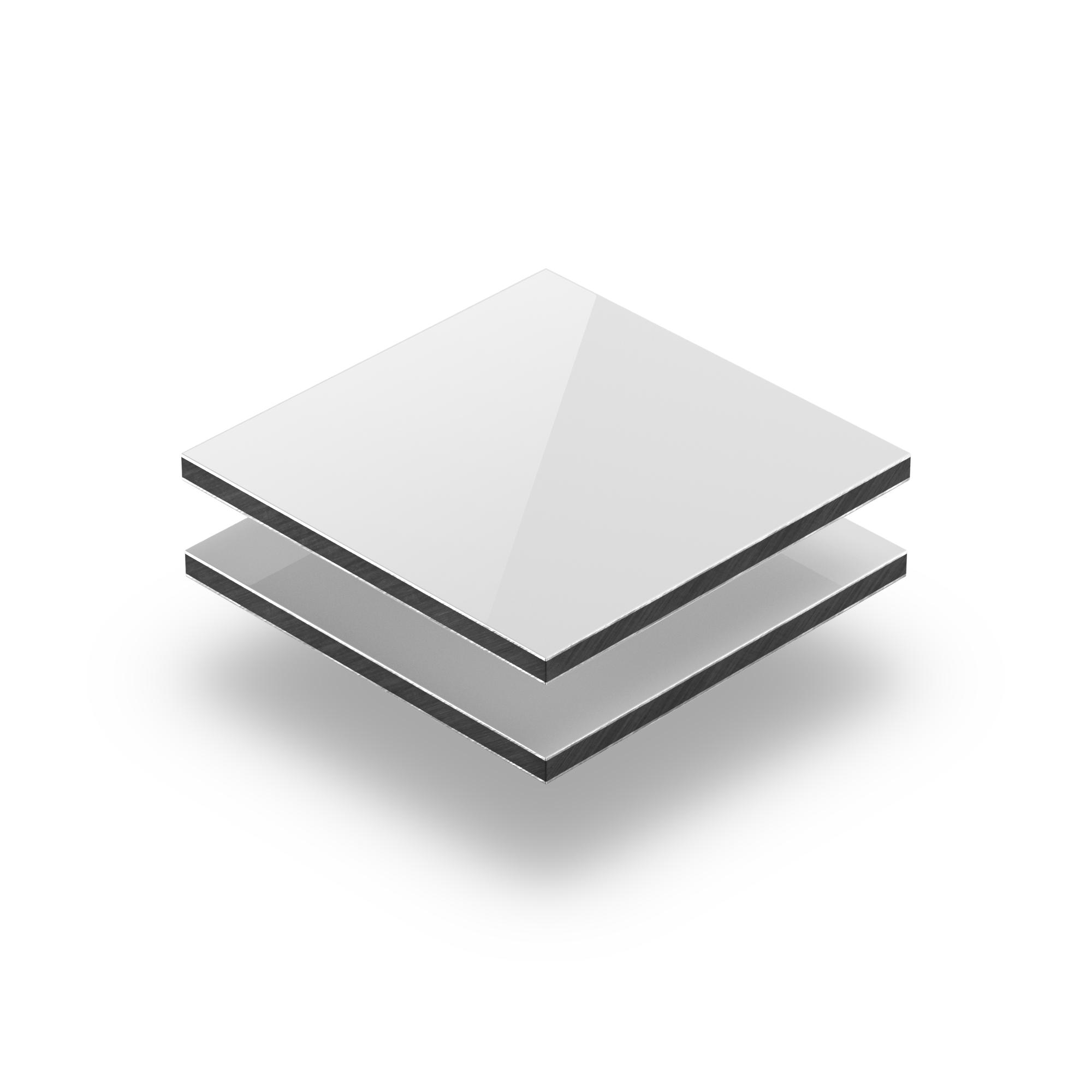 Alupanel Alu Verbundplatten Weiss 3 Mm Glanzend Zuschnitt