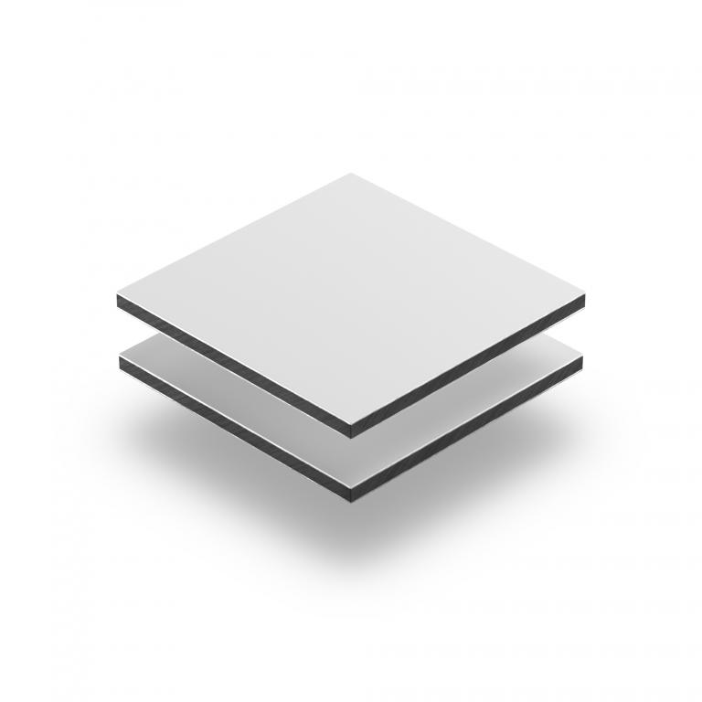 Dibond Aluminium Verbundplatte weiß matt