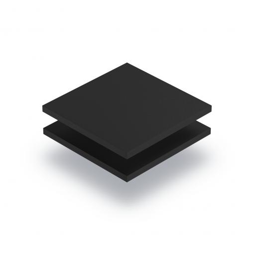 PVC Hartschaumplatte schwarz