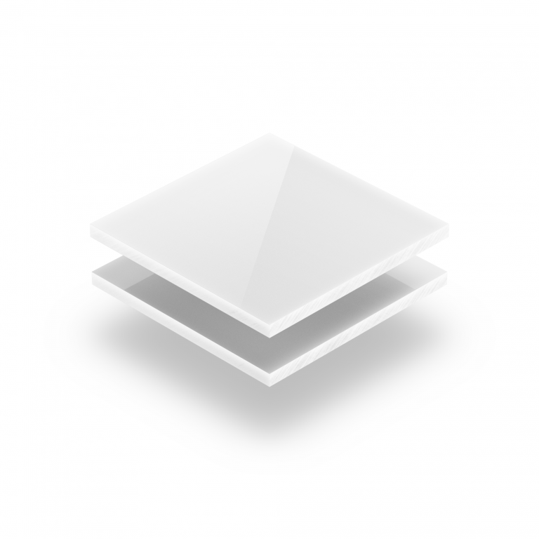 Polycarbonat Platte opal weiß