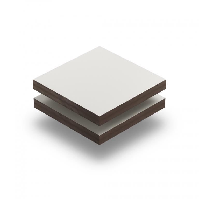 HPL struktur Platte cremeweiß