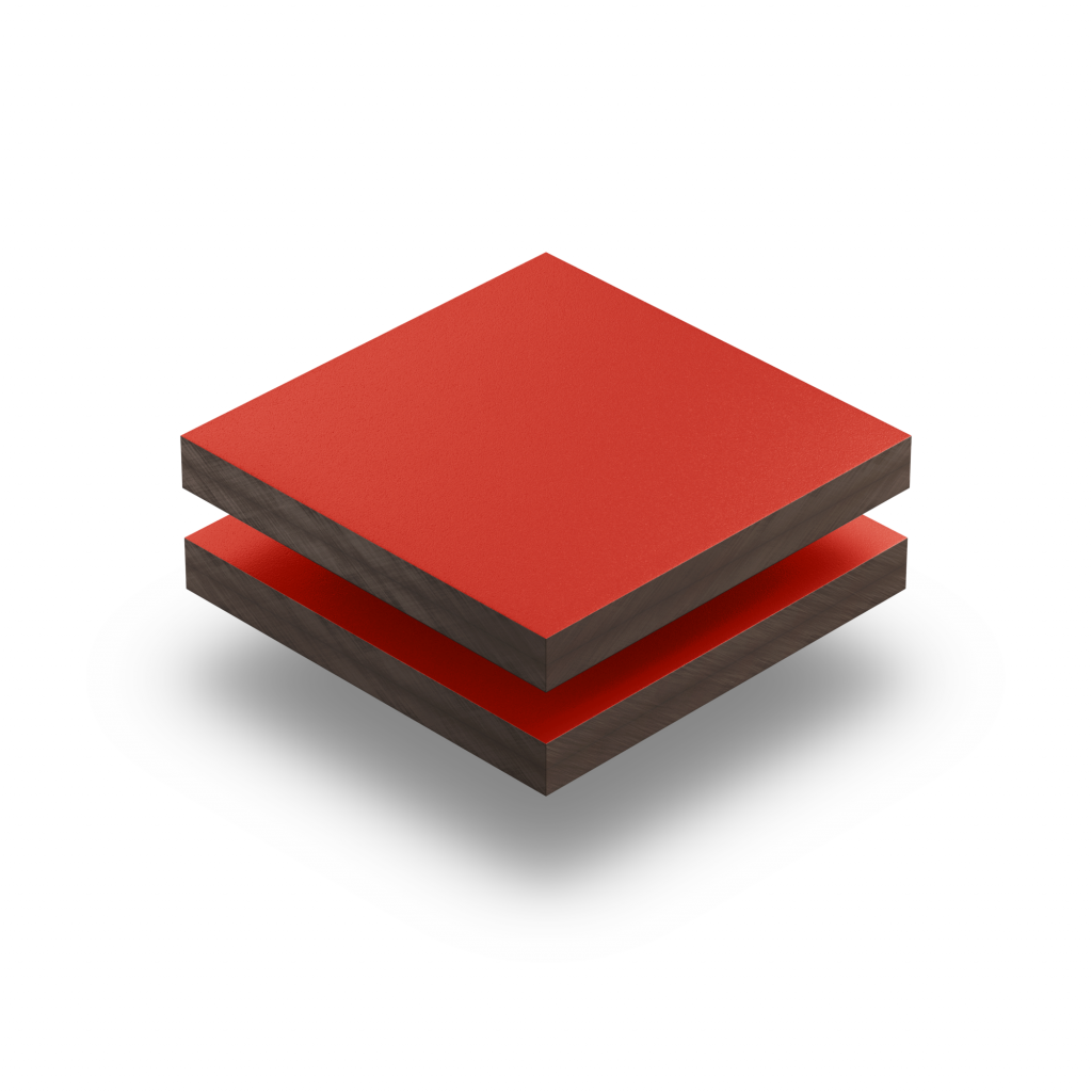 HPL struktur Platte verkehrsrot