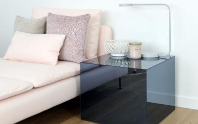 IKEA Lack Tisch hack mit Plexiglas