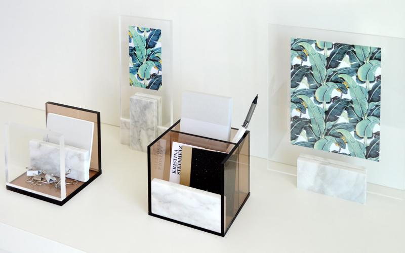 Schreibtischzubehör aus Acrylglas