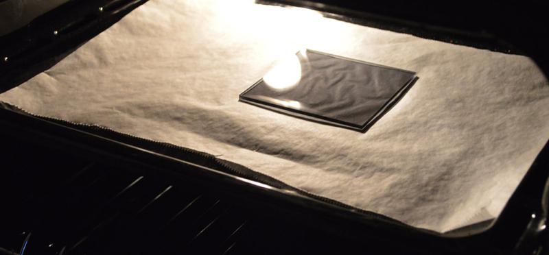 Acrylglasplatte im Offen