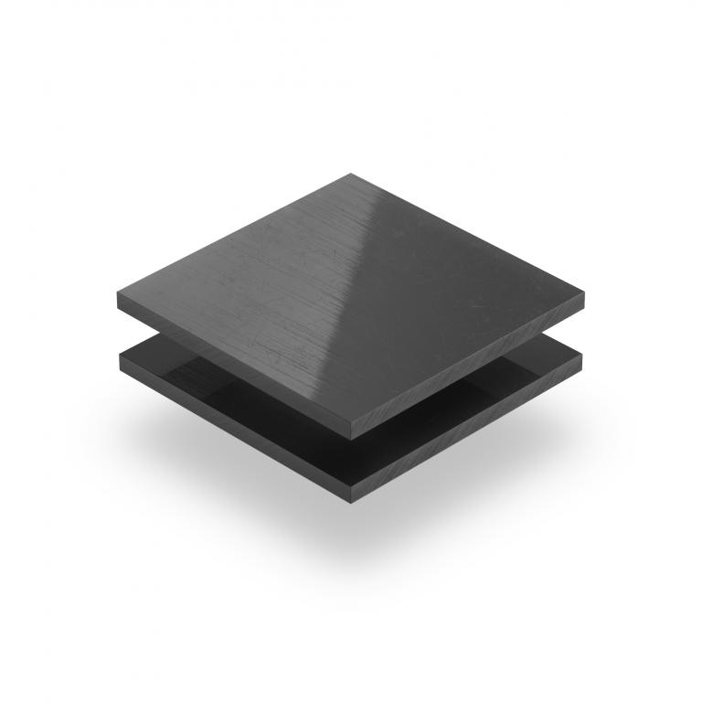 Hart PVC Platte dunkelgrau