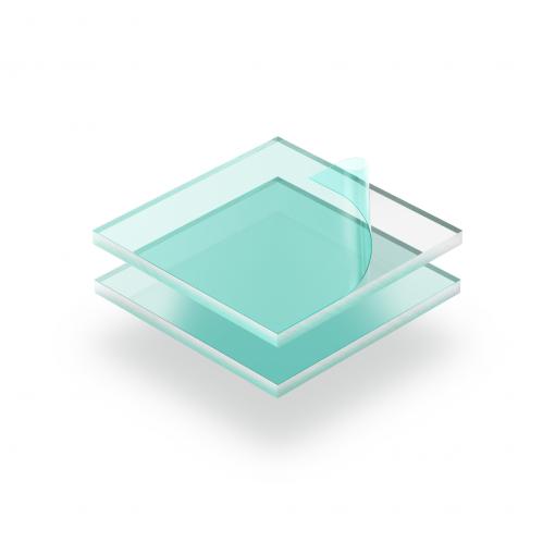 Plexiglas klar mit Schutzfilm