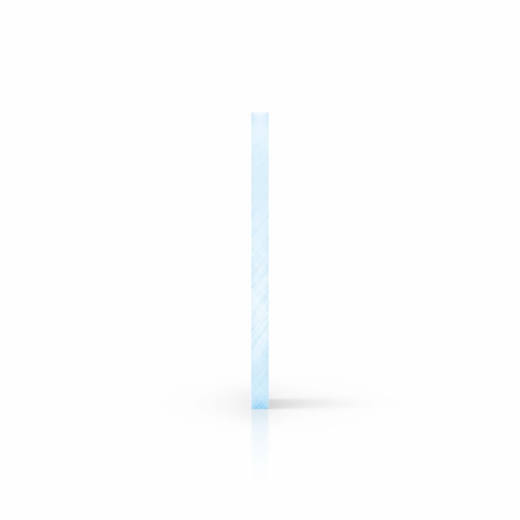 Seite Acrylglas Platte fluoreszierend blau