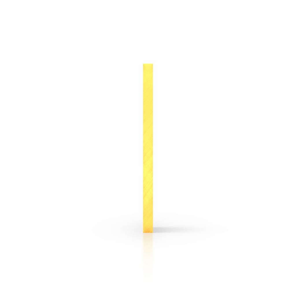 Seite Acrylglas Platte fluoreszierend gelb