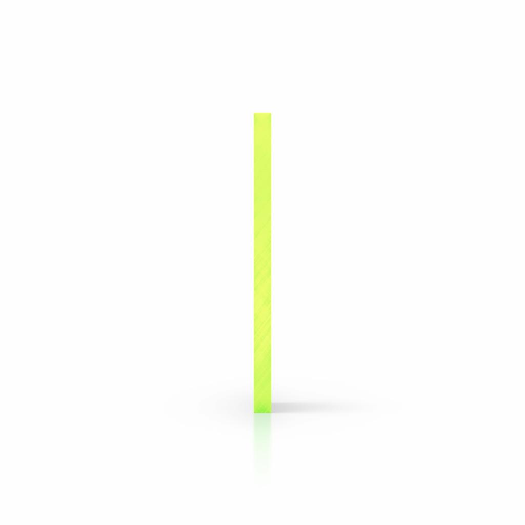 Seite Acrylglas Platte fluoreszierend gruen