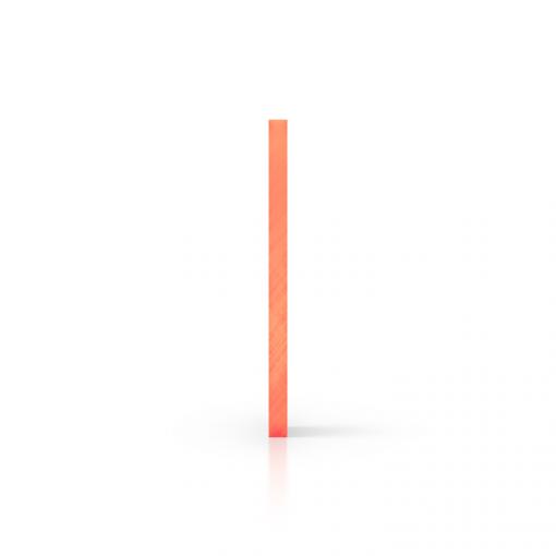 Seite Acrylglas Platte fluoreszierend orange