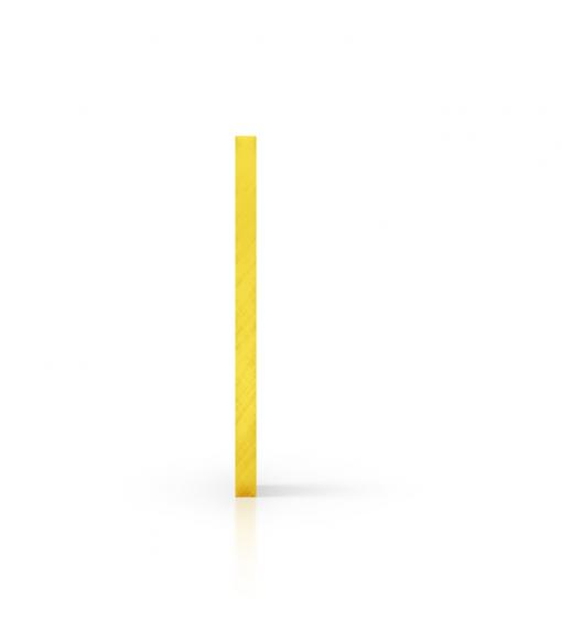 Seite Acrylglas Platte getoent gelb