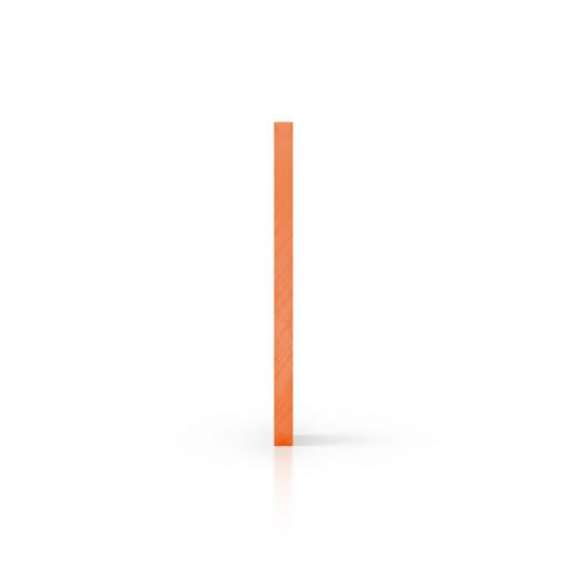 Seite Acrylglas Platte getoent orange