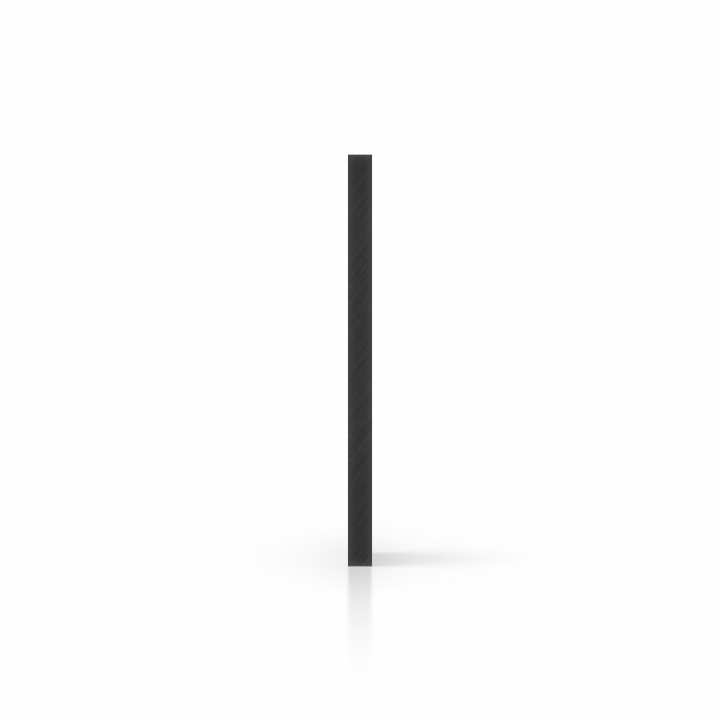 Seite Acrylglasplatte schwarz