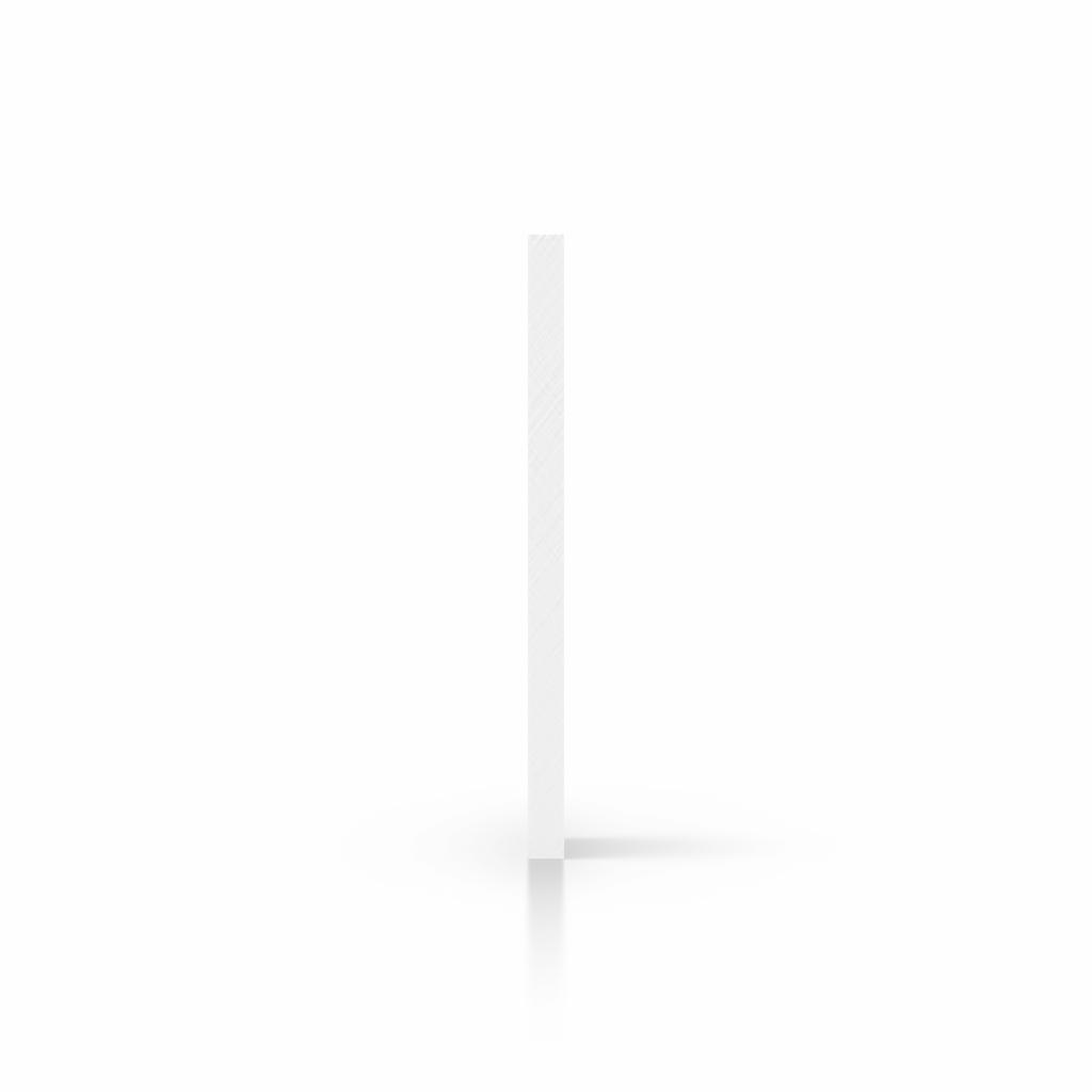 Seite Acrylglasplatte weiss