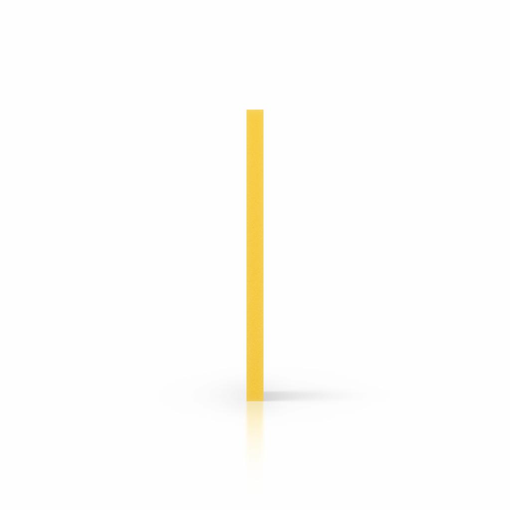 Seite PVC Hartschaumplatte gelb
