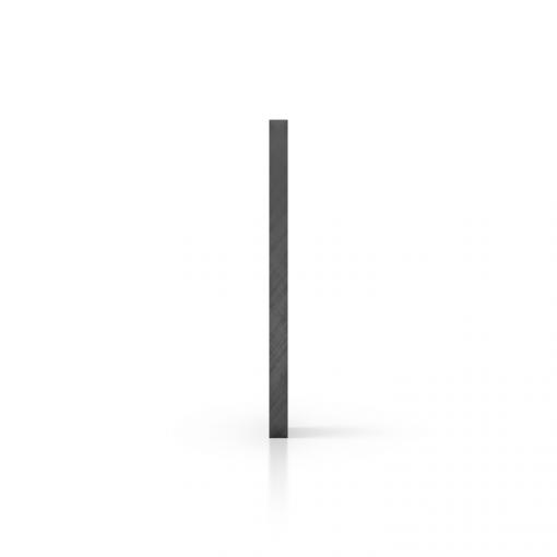 Seite Polycarbonat Platte getönt grau