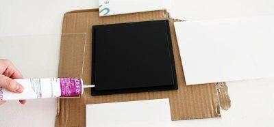 Windlichter selber machen Acrylglasplatten montieren