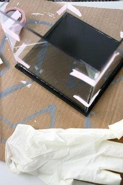 Windlichter selber machen Acrylglasplatten zusammen kleben