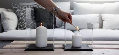 Windlichter selber machen aus Acrylglas Endergebnis