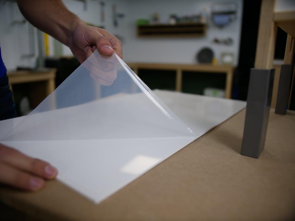 IKEA Kueche Acrylglasfolie auf einer Seite entfernen