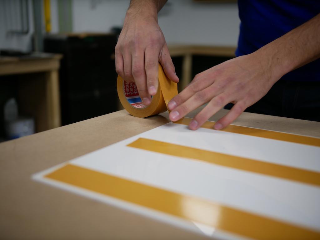 IKEA Kueche doppelseitiges Klebeband kleben Acrylglas