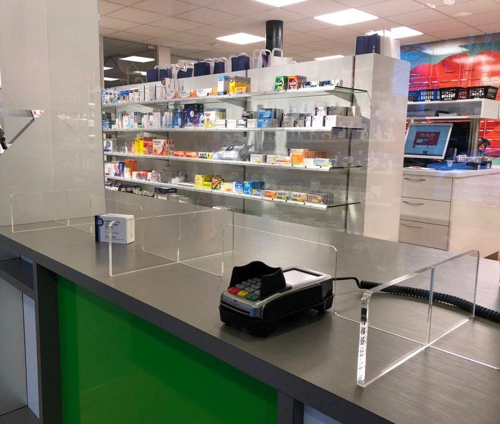 Plexiglasschutz apotheker