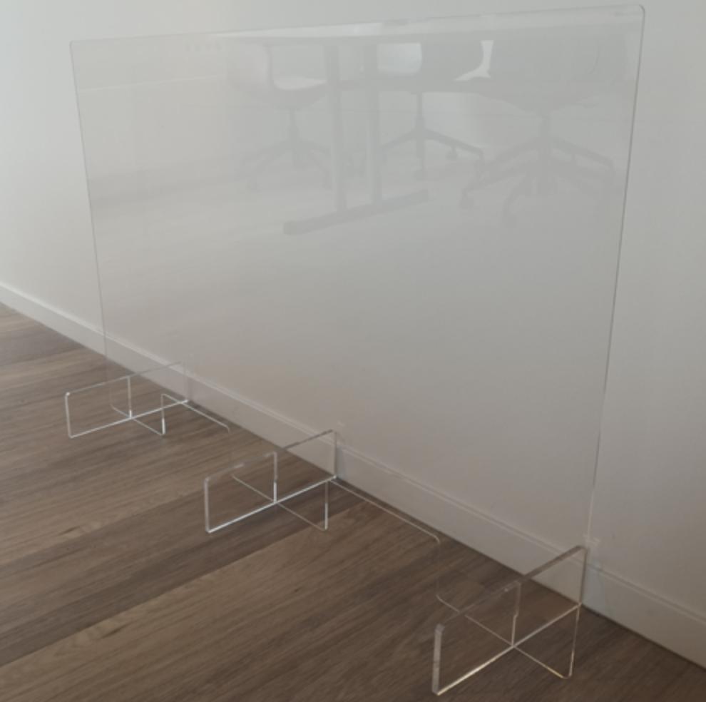 Transparente mobile Schutzwand 120 x 80 cm