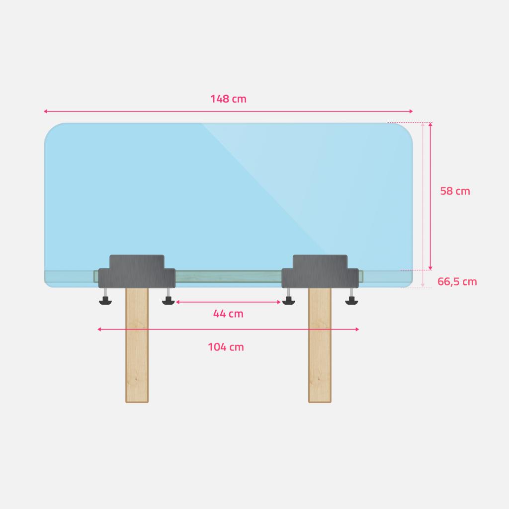 Abmessungen Schreibtisch- oder Tisch Schutz gross