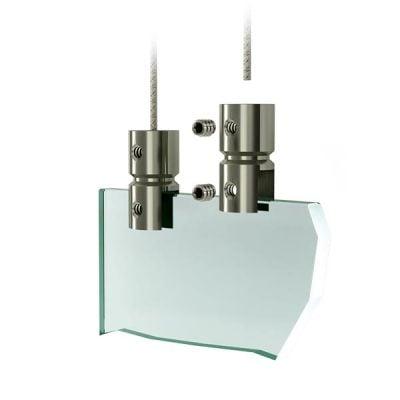 Edelstahl Plattenhalter - Acrylglas aufhaengesystem