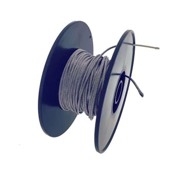 Edelstahldraht - Acrylglas aufhaengesystem