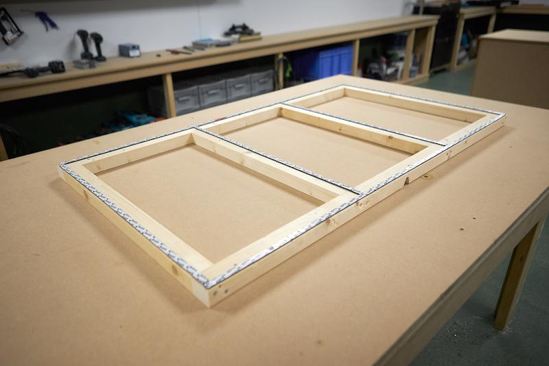 Kunststoff Deckenpaneele Rahmen mit doppelseitigen Klebeband