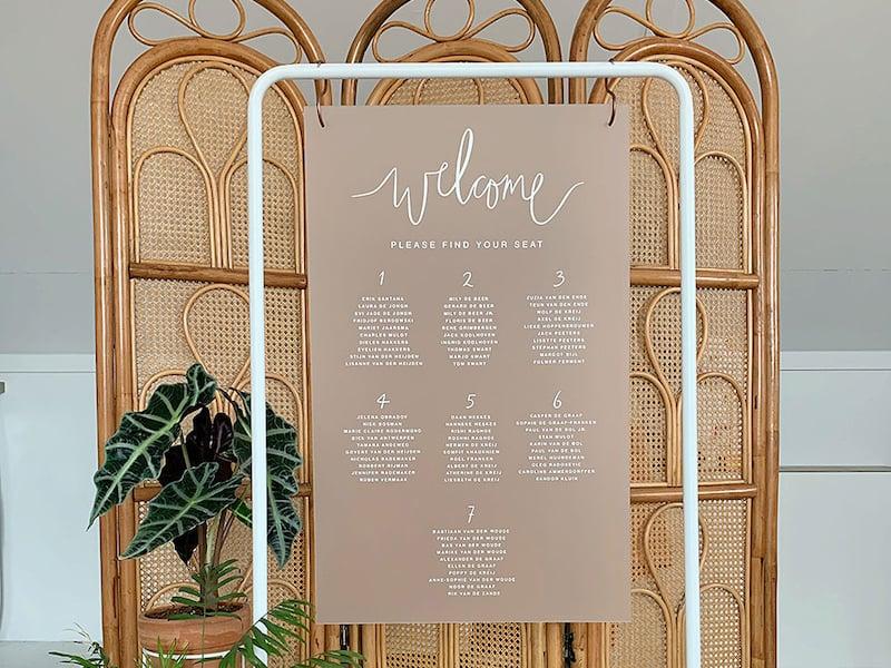 Sitzplan Hochzeit Acrylglas Frost