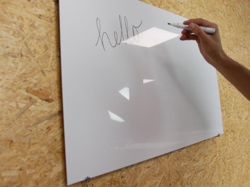Whiteboard aus Alu Dibond