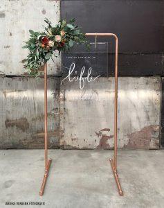 Willkommensschild Hochzeit Kupfer Rahmen transparentes Acrylglas