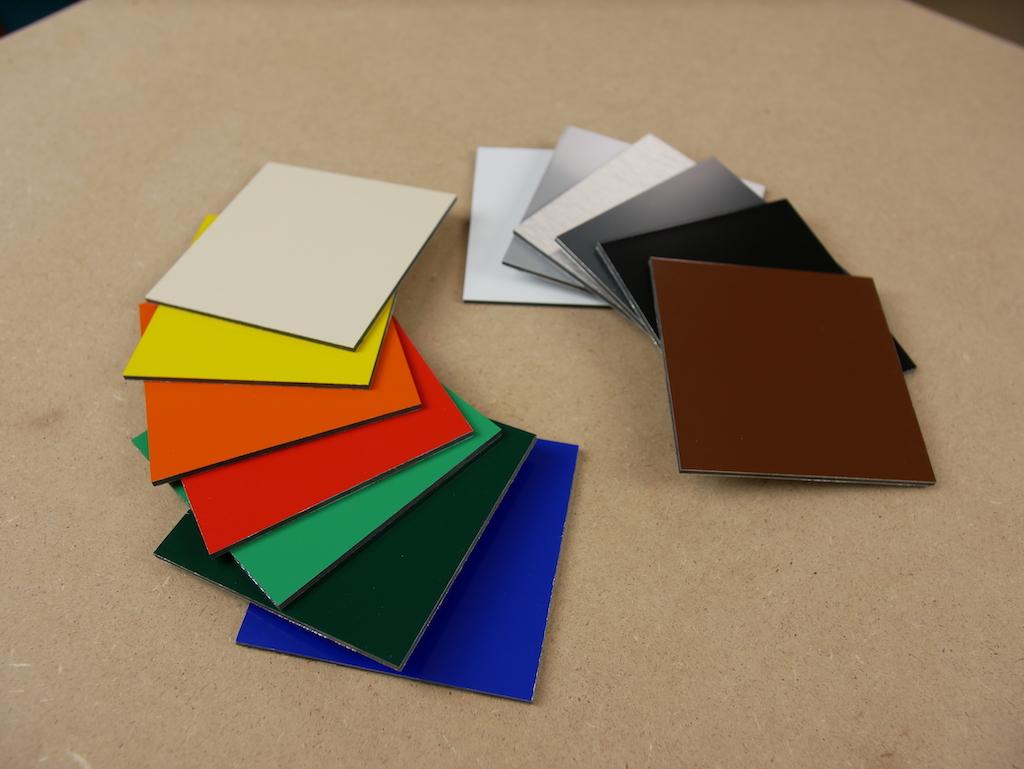 Alu Dibond Farben