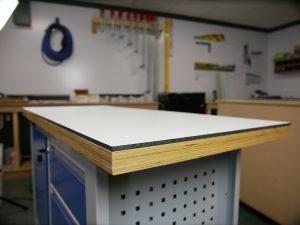 HPL Arbeitsplatte selber bauen