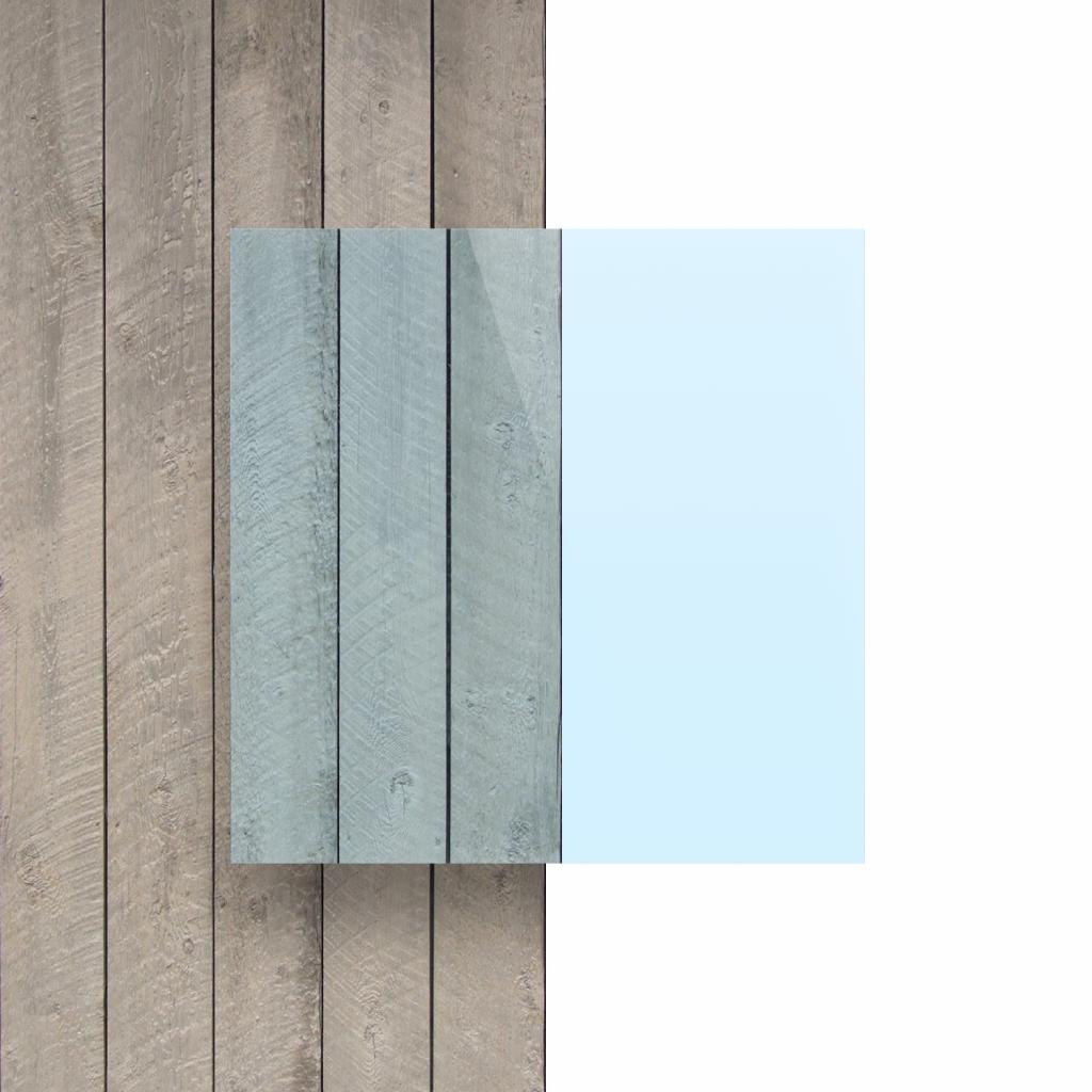 Vorseite Acrylglas Platte fluoreszierend blau