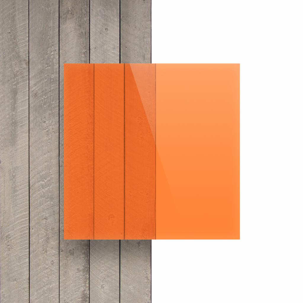 Vorseite Acrylglas Platte fluoreszierend orange