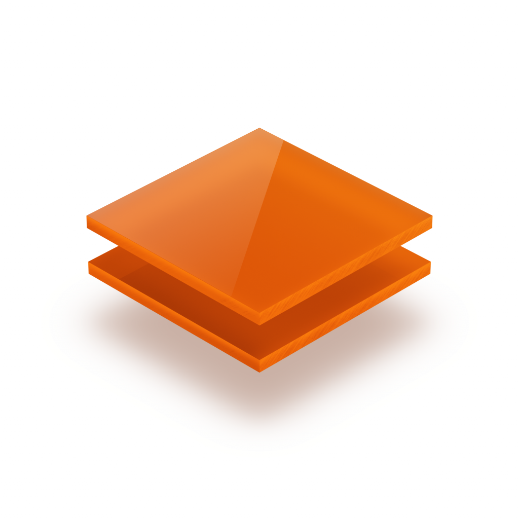 Acrylglas Platte opal orange