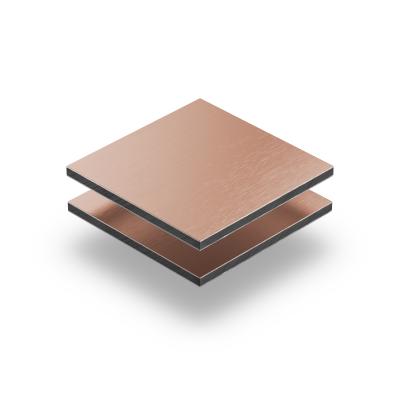 Alu Verbundplatte Kupfer gebürstet 3 mm