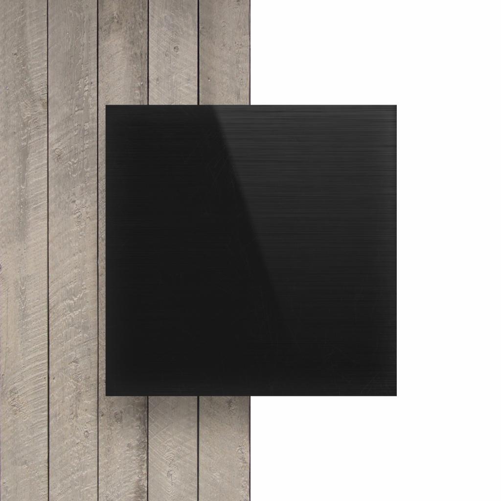 Alu Verbundplatte Schwarz gebürstet vorderseite